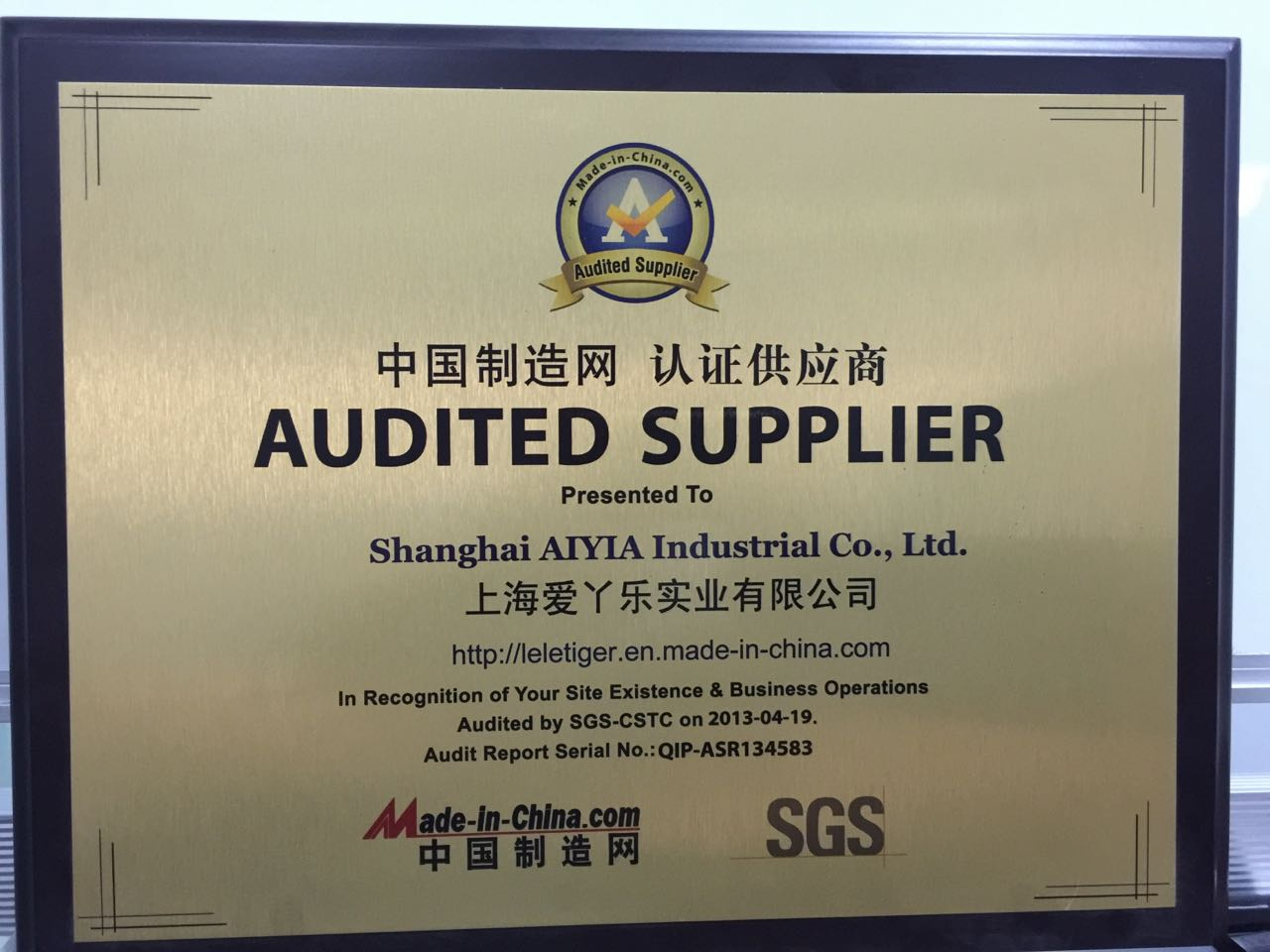Audited Supplier -MADE IN CHINA