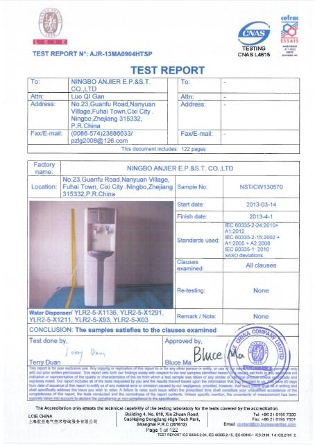 SASO Certificate