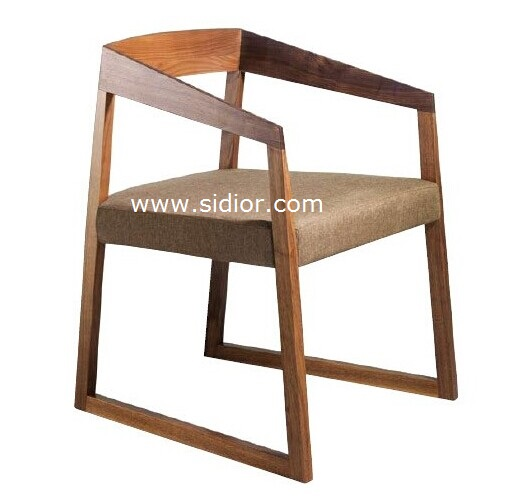 SD1005 Nordic Style Restaurant Wooden Dining Chair with Fabric Seat