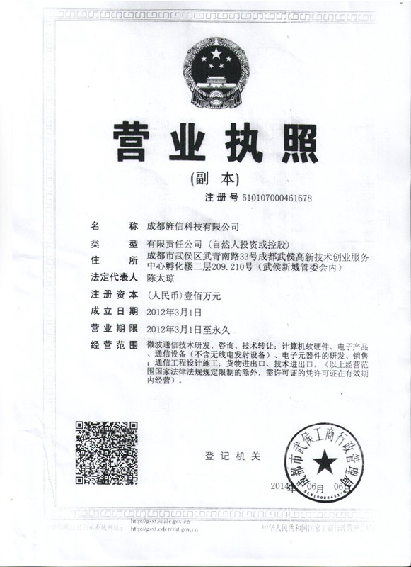 bussiness licence