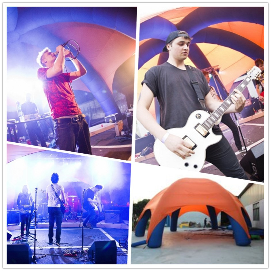 inflatable dome tent in the music live show in Czech