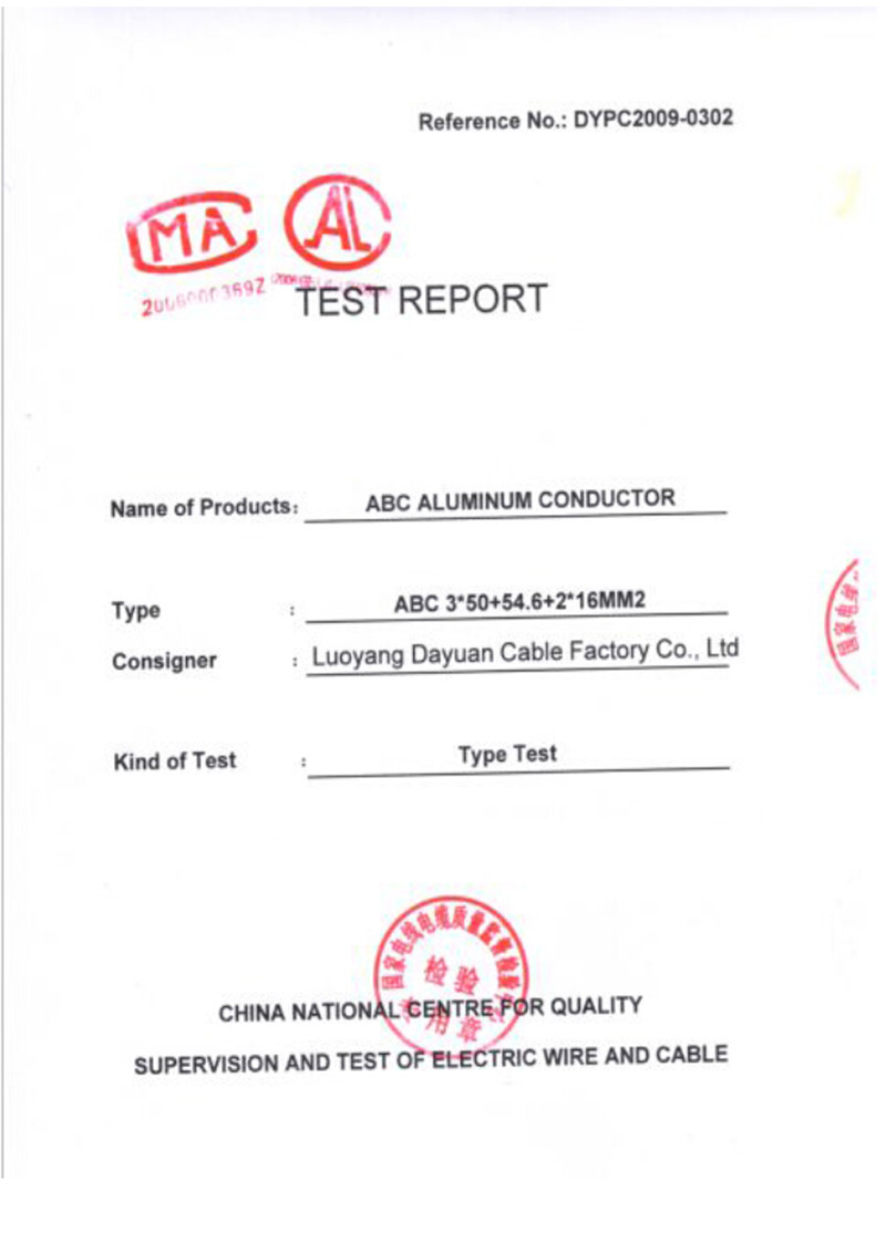 ABC conductor test report