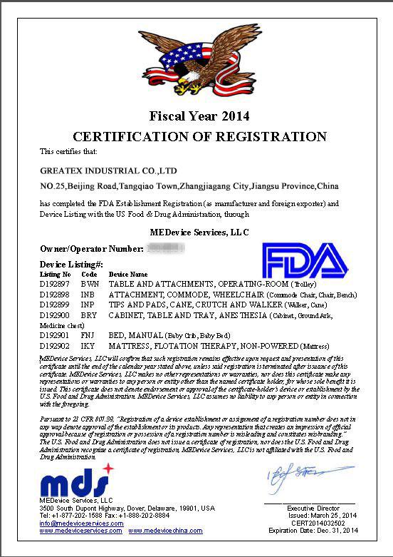 FDA Proved Certificate