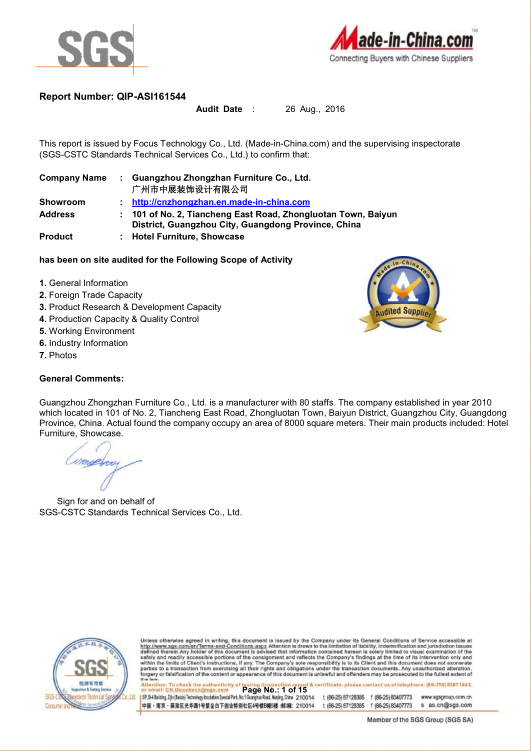 SGS Certificated Test Report