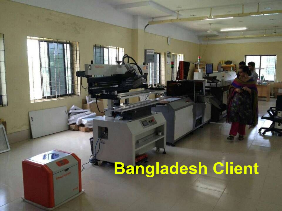 Bangladesh Customer Bought our SMT LED PCB Assemble Line in 2014!