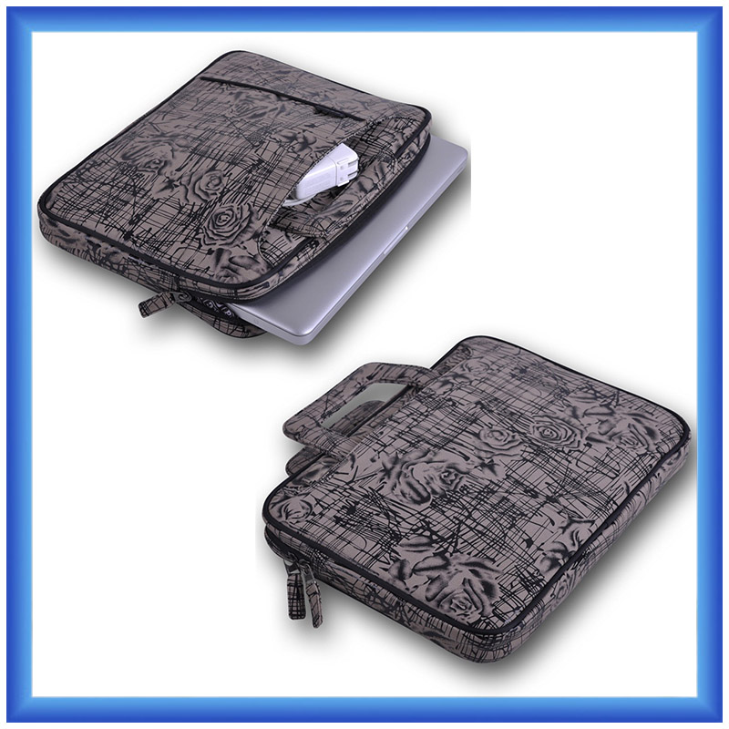 full printing nylon laptop bag,fashion laptop portable case