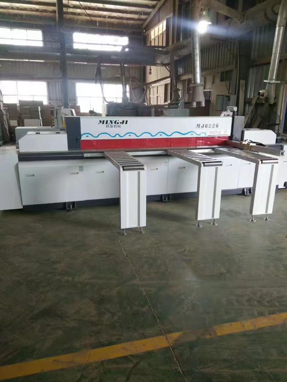 woodworking beam saw machine in customer's factory