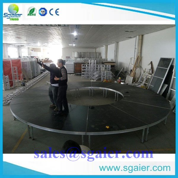 New product-S shape stage for hotel-- Special style stage from Sgaier Truss