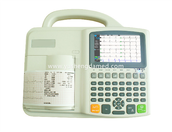 Digital Three Channel Electrocardiograph ECG EKG Machine Touch Screen Width Thermal Paper