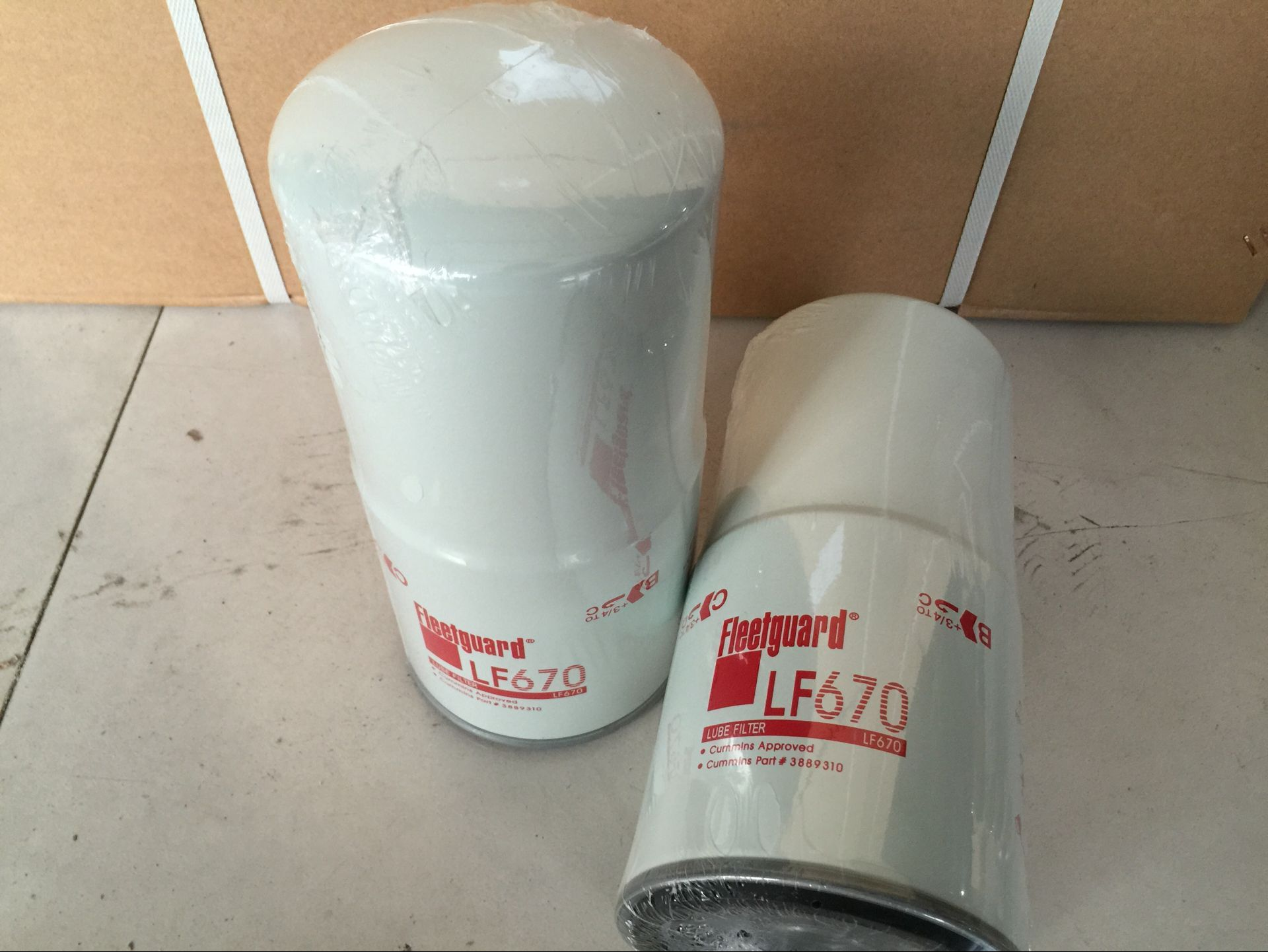 Genset filter, Fleetguard filter