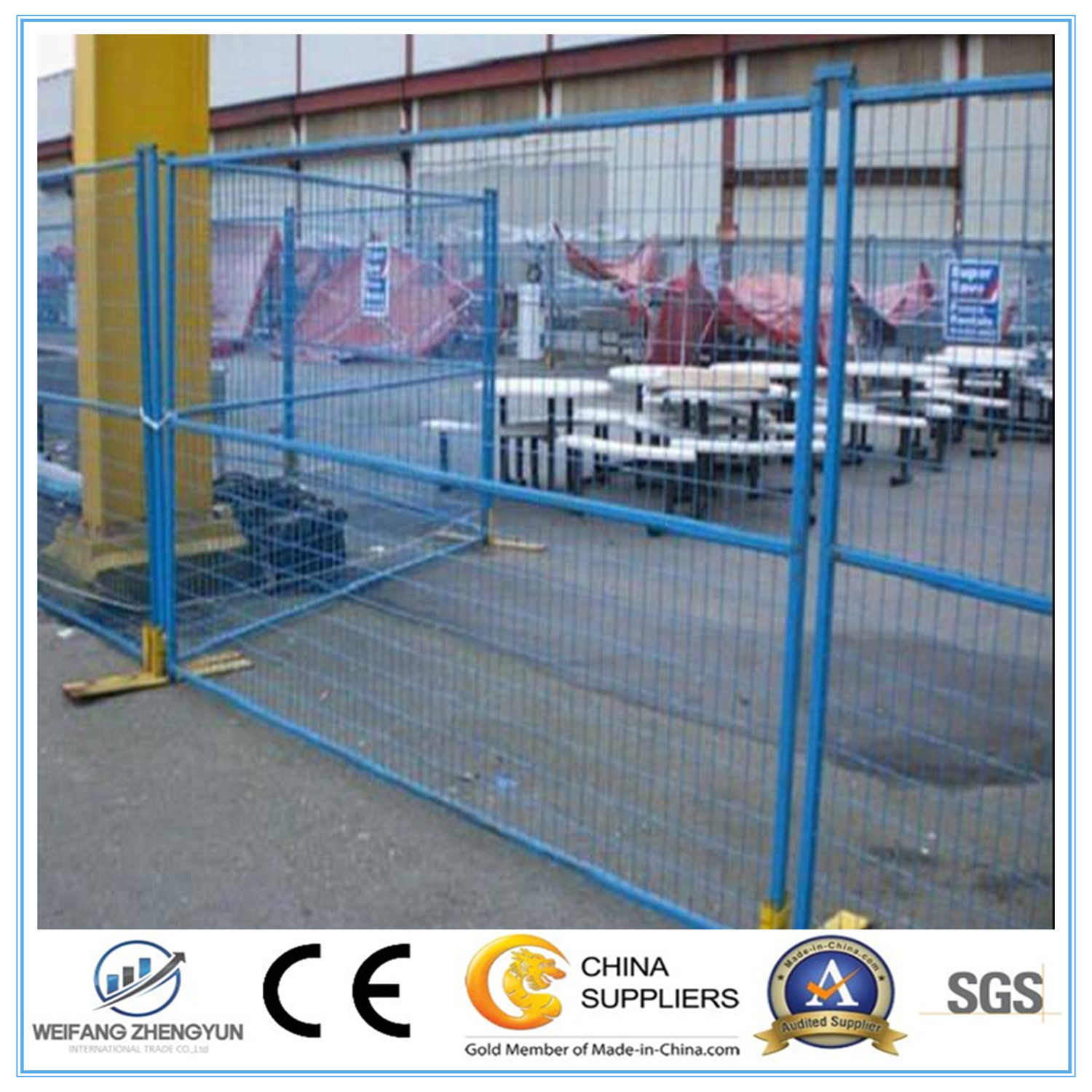 6FT X 10FT for Ca Market Temporary Fence