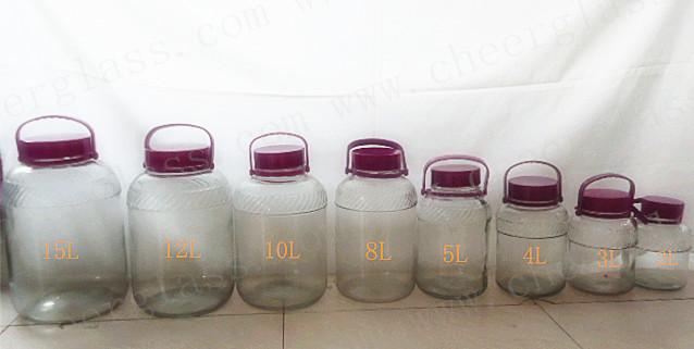 Glass jar with lid,glass bottle,food jar,water bottle