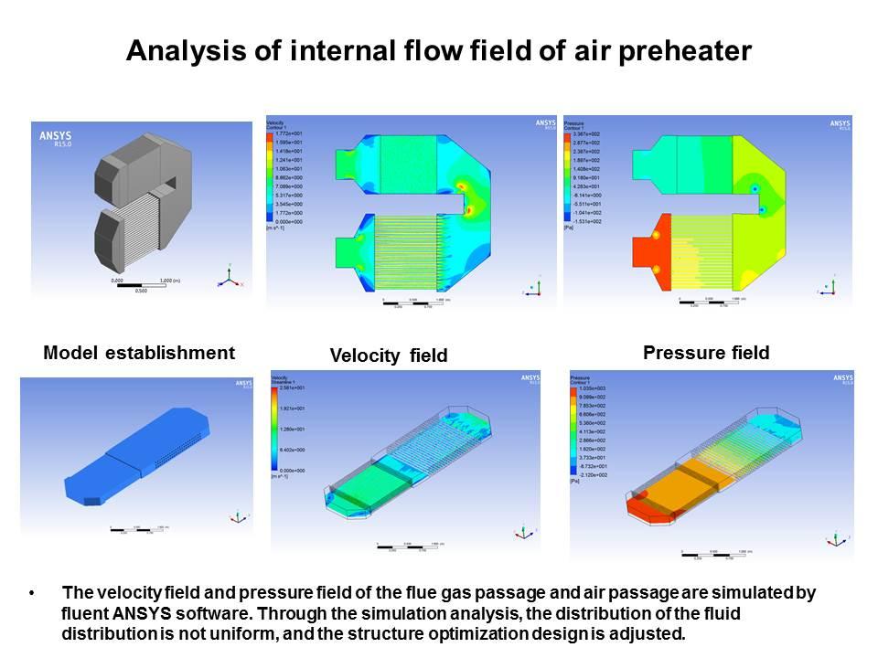 Analysis of internal flow field of air preheater