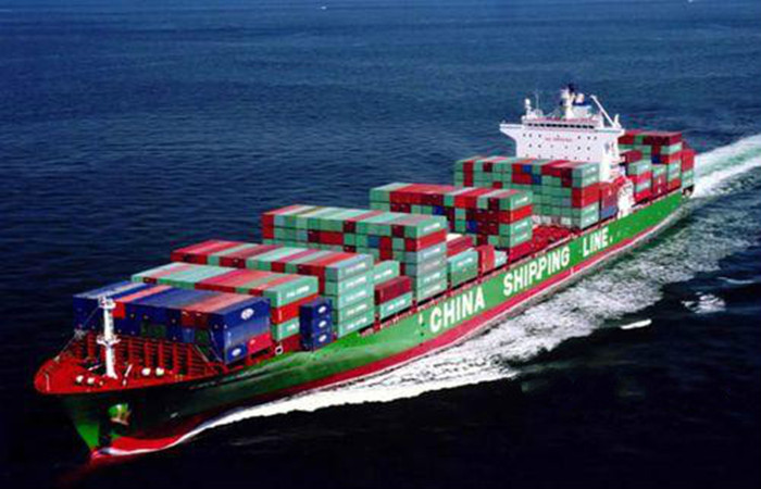container on ship