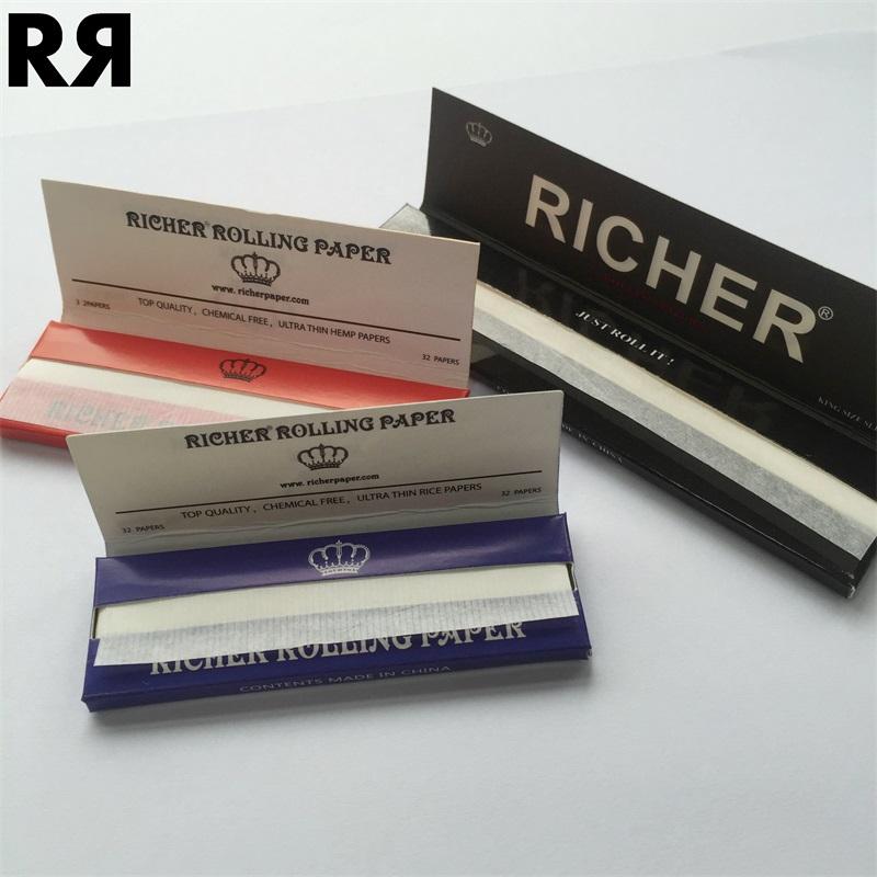 Richer Brand king size slim Cigarette Rolling Paper