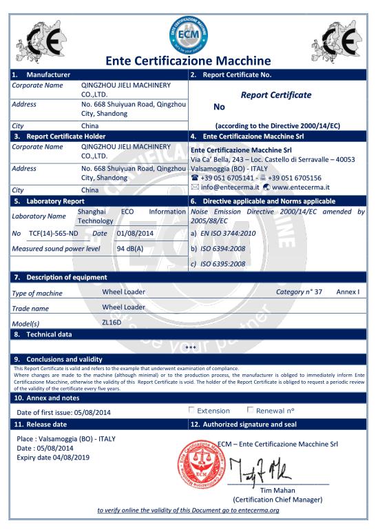 Noise EC certification