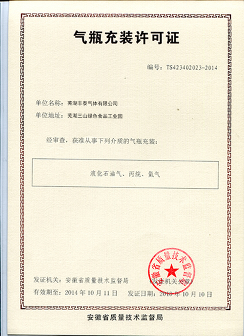 Cylinder Filling Permit