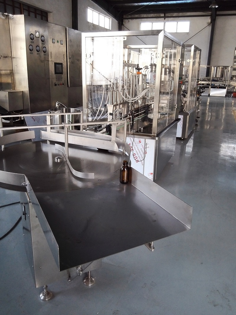 syrup filling and capping line