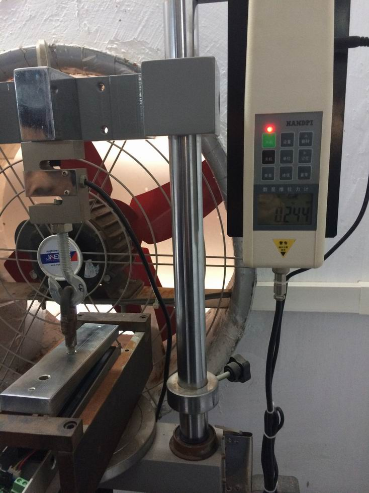 holding force testing - 280kg