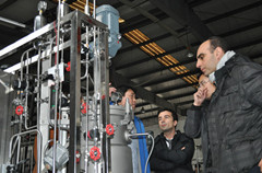 Italian customers visit 200L stainless steel fermentor