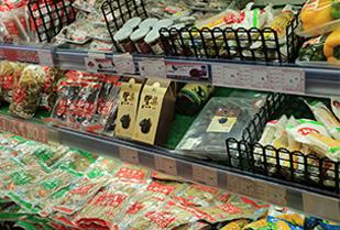Dai wang black garlic in the supermarket