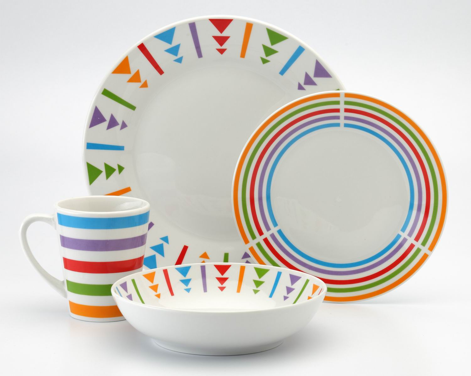 16 piece Round Porcelain Dinner Set With Split Decal(TM1304003)