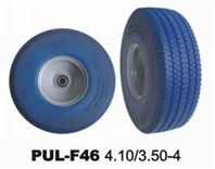 Blue PU Foam Truck Tire