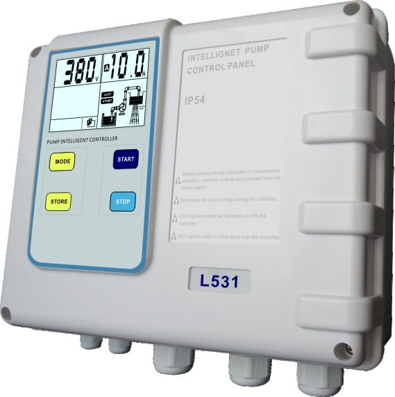 Pump controller with IP 54 protection