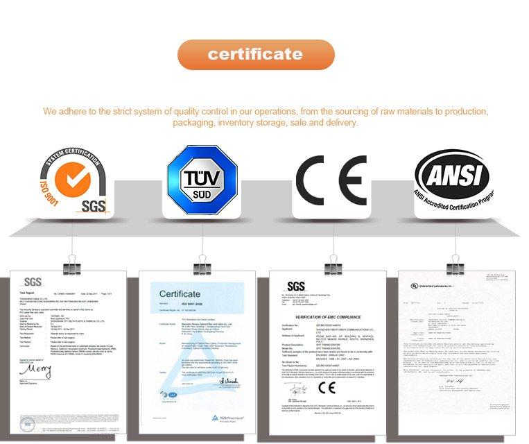 Workwear Meet Starndard Certificate