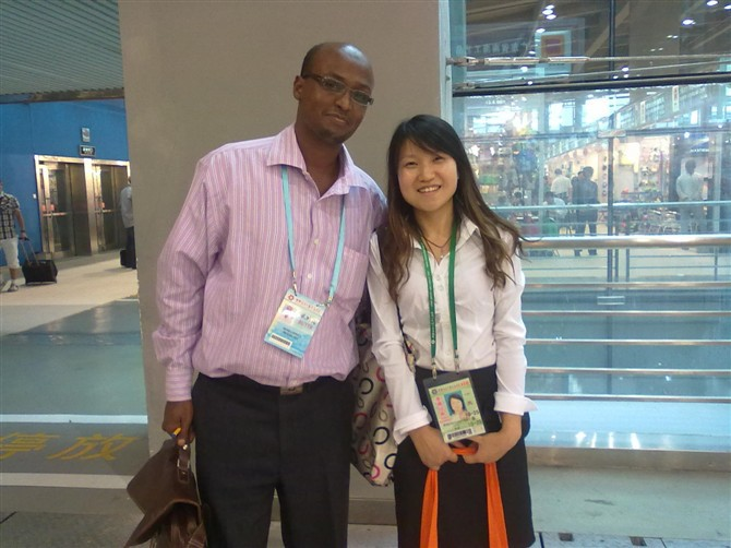 Meeting Kenya customer at 113th China Import and Export Fair 2013