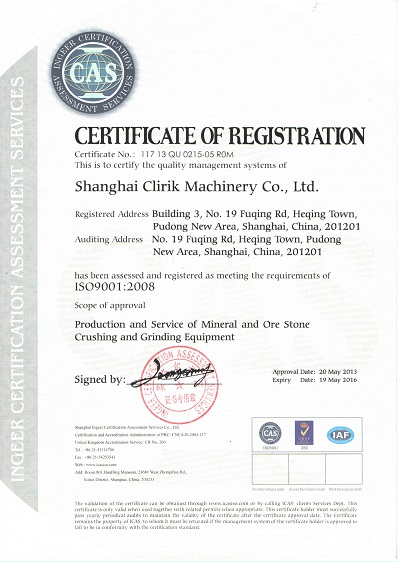 Clirik ISO9001:2008 Certification