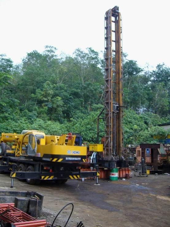 Truck crane in South East Asia