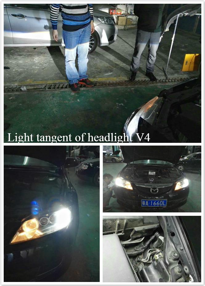 LED headlight tangent of V4