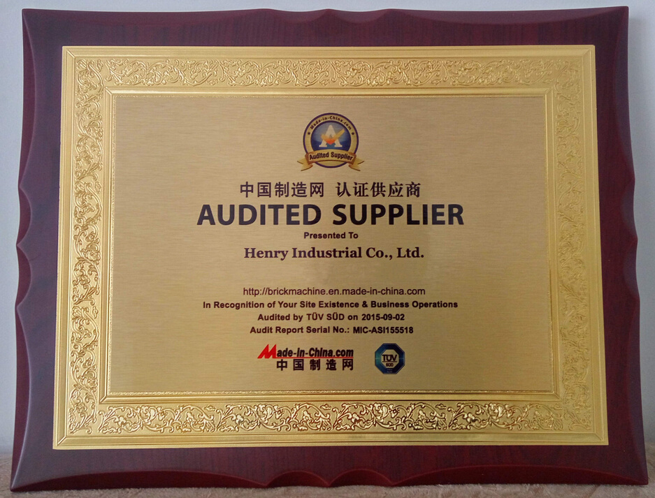 Henry Industrial was awarded the Quality management Certification by TUV.
