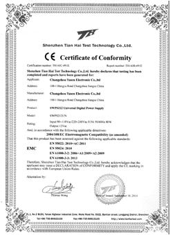 Certificate of Comformity