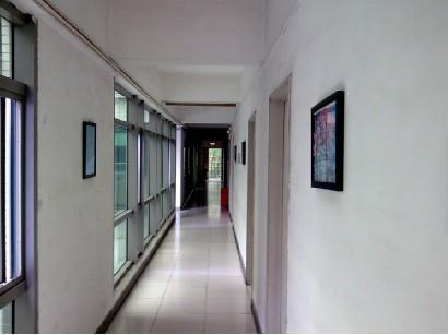 Staff dormitory aisle