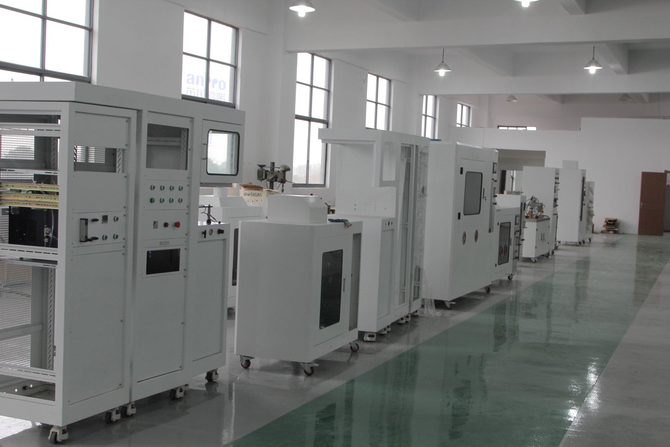Fire test production line