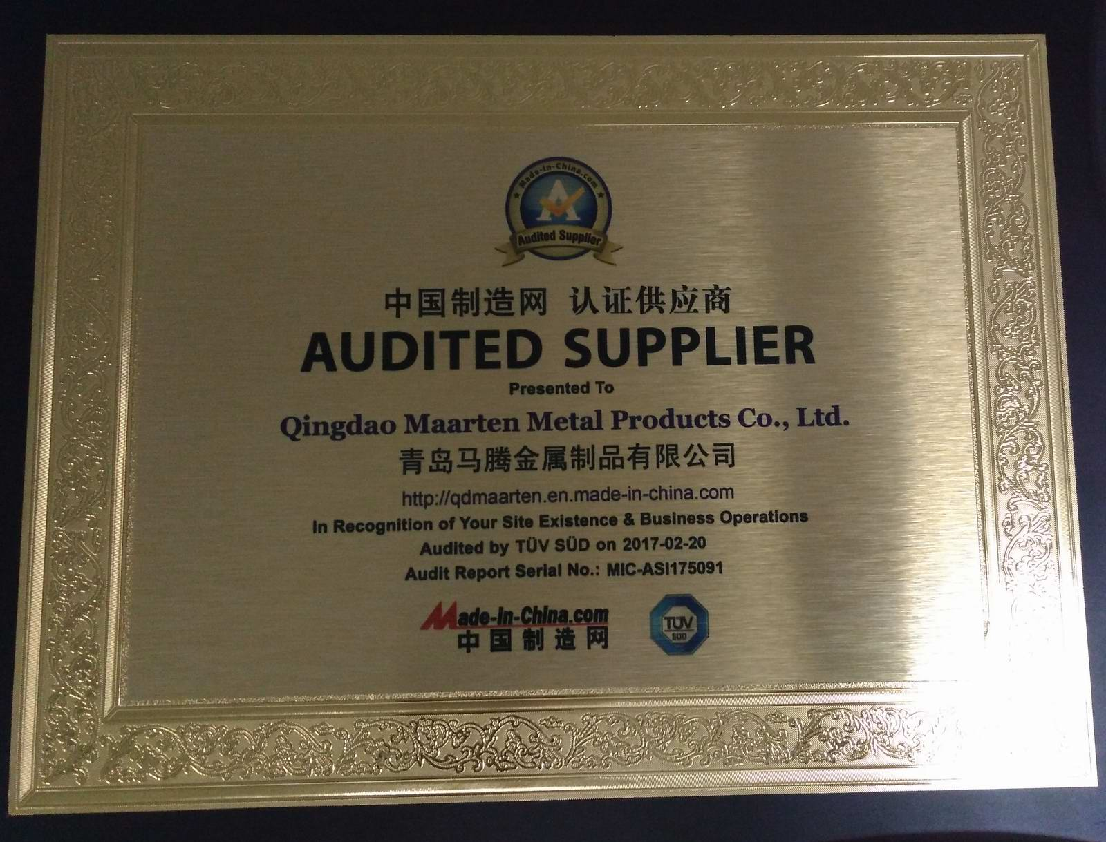 Made in china Certificate of accreditation