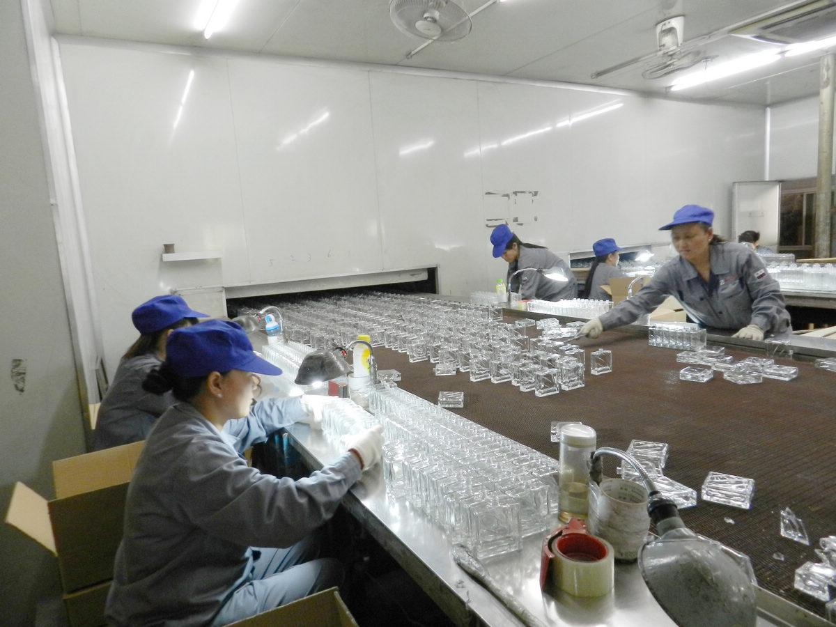 glass bottle producing deparment