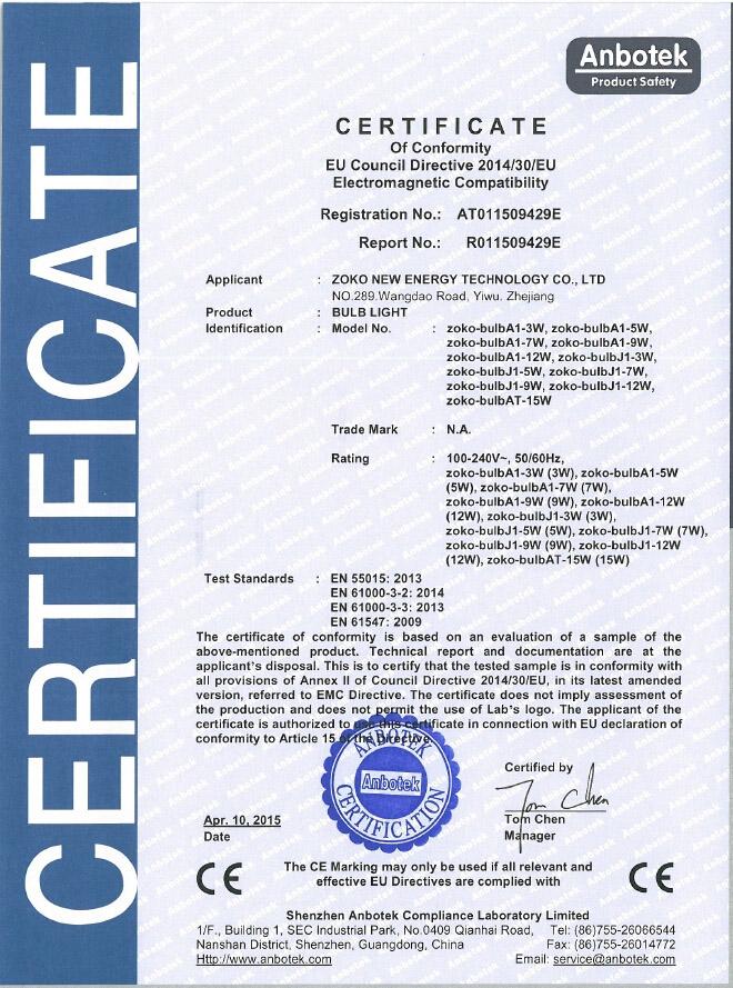 CE certification-EMC
