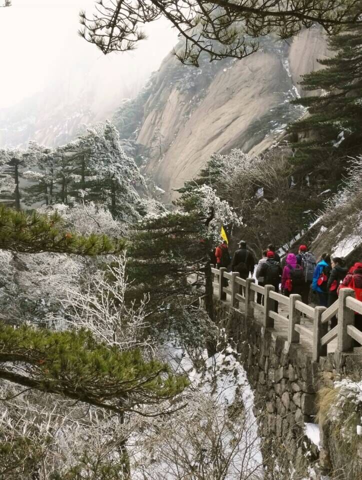 HuangShan traveling, a well know tourist mountain resort!