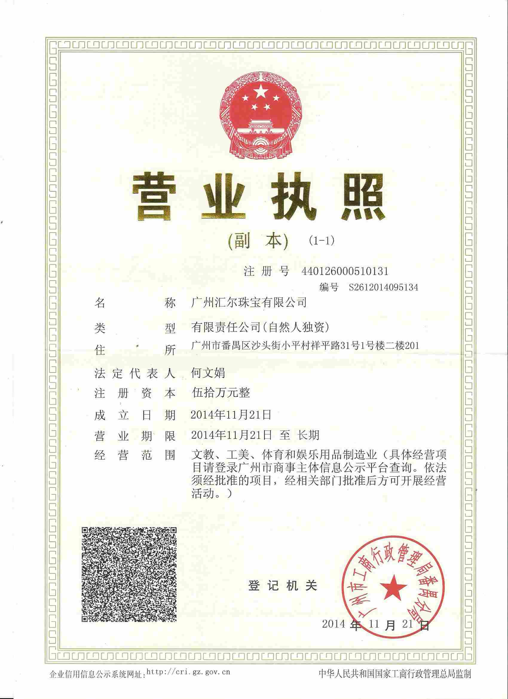 Chinese Business Certificate