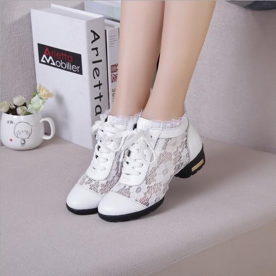 Fashion Dance Shoes Women Dancing Sneakers Jazz Breath Footwear