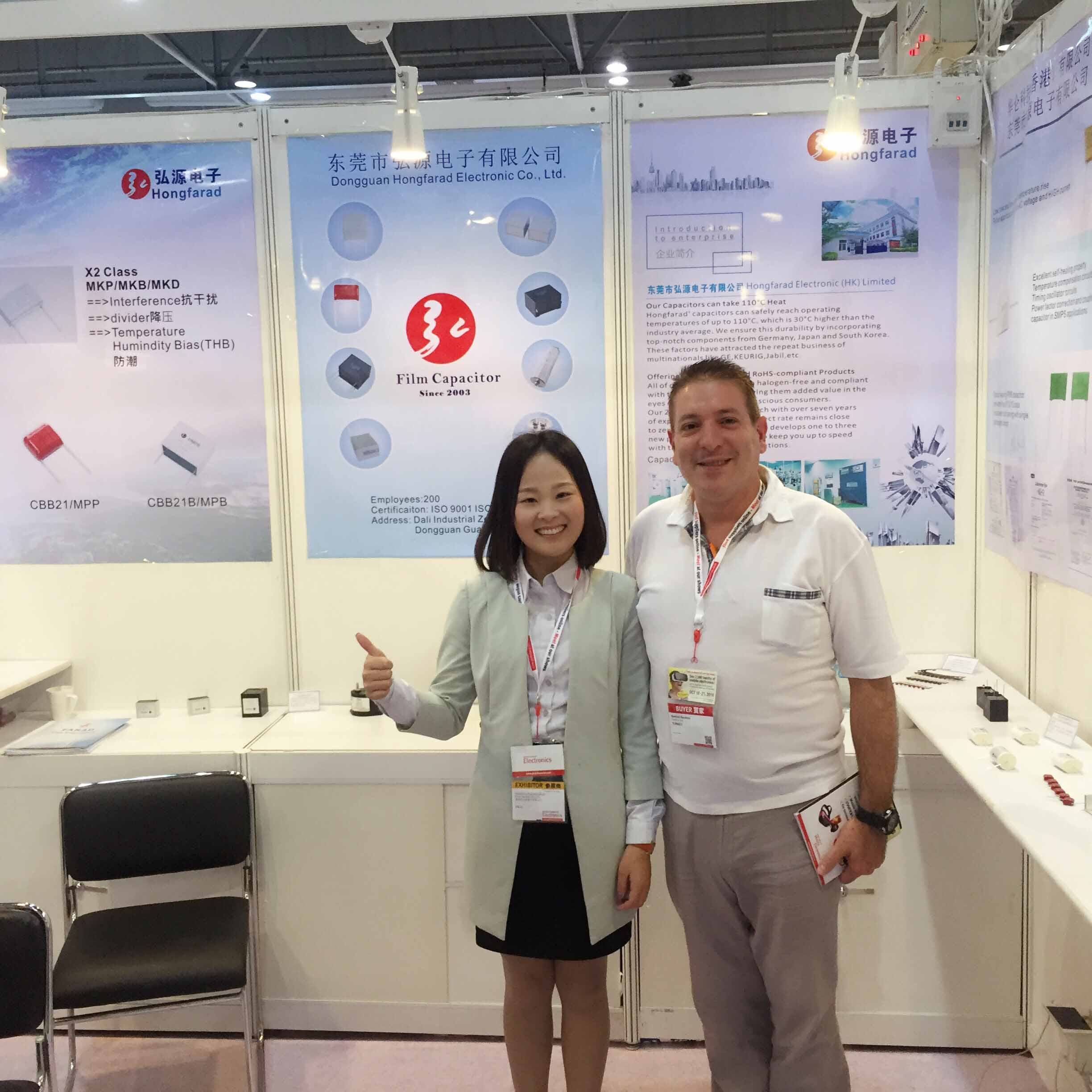 Electronic Exhibition in HongKong with capacitor customer [Oct.,11~14,2016]