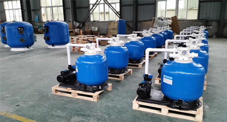 Swimming pool sand filter area