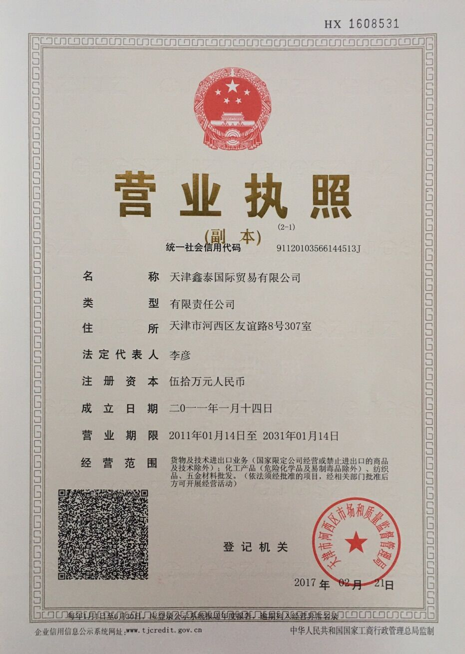 BUSINESS LICENSE of LEGAL ENTITY ( DUPLICATE)