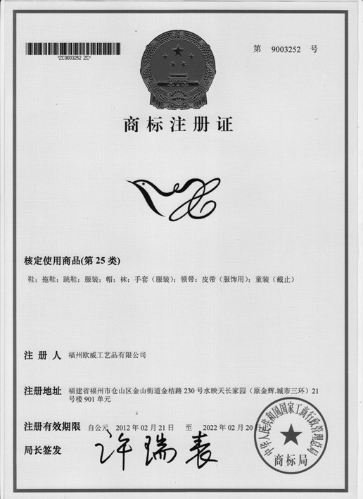 TRADE MARK LOGO CERTIFICATE