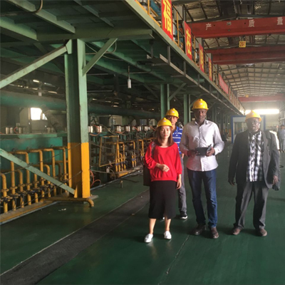 Fair customer to visit our factory