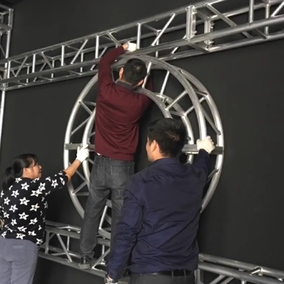 Truss Setup for Stage Lighting Showroom