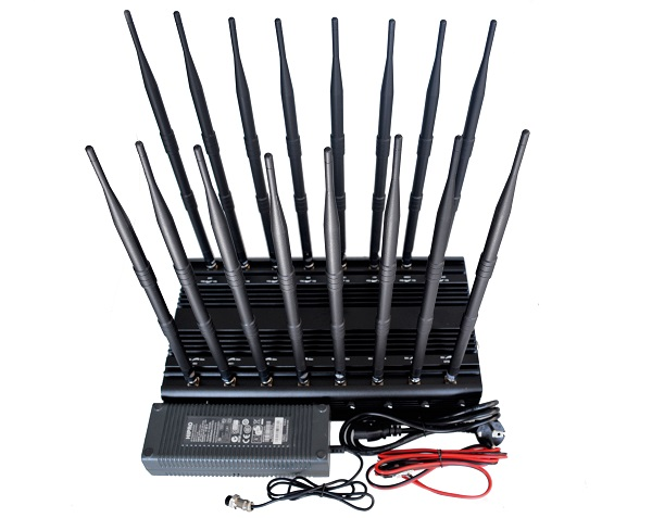 Adjustable 16-antenna full-frequency jammer